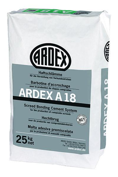 Lechada adhesiva para recrecidos ARDEX A18