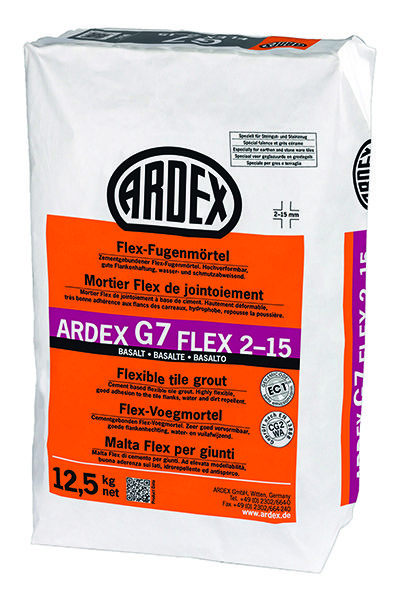 Mortero flexible para juntas de 2 a 15 mm ARDEX G7 FLEX