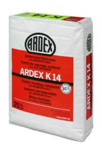 Mortero autonivelante. Aplicable en capa de 0 a 10mm ARDEX K14
